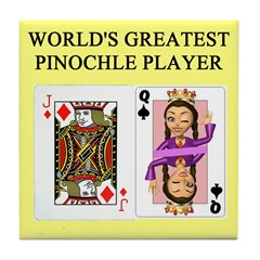 world's greatest pinochle player Tile Coaster