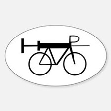 Doping in Cycling Oval Decal