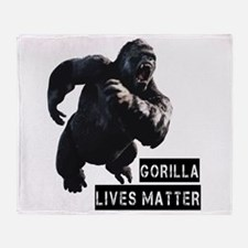 Gorilla Lives Matter Throw Blanket