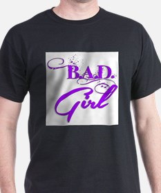 Purple Bad Girl logo T-Shirt