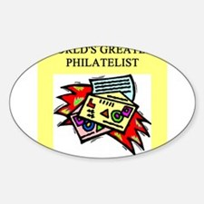 philatelist gifts t-shirts Oval Decal