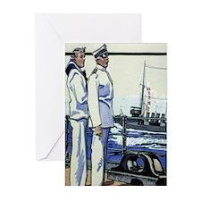 Vintage Navy Greeting Cards (Pk of 10)