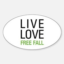 Live Love Free Fall Sticker (Oval)