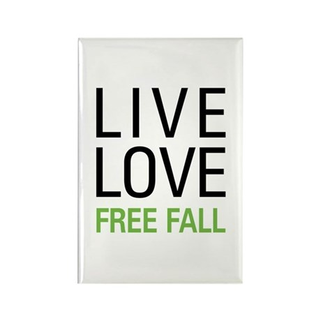 Live Love Free Fall Rectangle Magnet (100 pack)