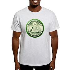 The Great Seal - Pyramid Eye Ash Grey T-Shirt