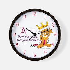 King Garfield Wall Clock