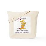 King Garfield Tote Bag