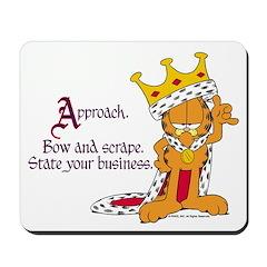 King Garfield Mousepad