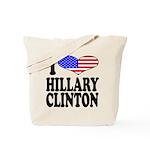 I Love Hillary Clinton Tote Bag