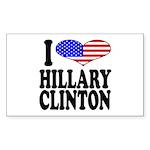 I Love Hillary Clinton Rectangle Sticker