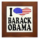 I Love Barack Obama Framed Tile