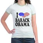 I Love Barack Obama Jr. Ringer T-Shirt