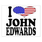 I Love John Edwards Small Poster