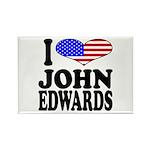 I Love John Edwards Rectangle Magnet