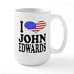 I Love John Edwards Large Mug