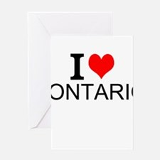 I Love Ontario Greeting Cards
