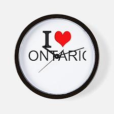 I Love Ontario Wall Clock