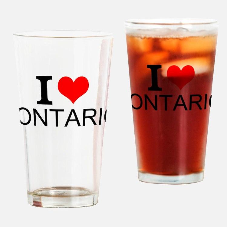 I Love Ontario Drinking Glass