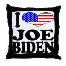I Love Joe Biden Throw Pillow