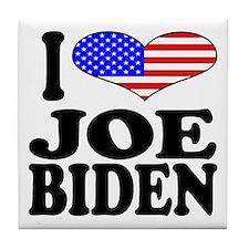 I Love Joe Biden Tile Coaster
