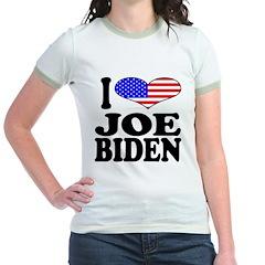 I Love Joe Biden Jr. Ringer T-Shirt
