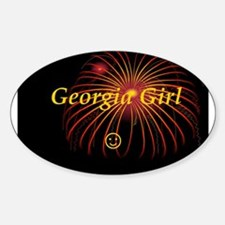 Hot Georgia Girl! Oval Decal