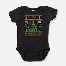 Cheery Christmas Cheering Ugly Chris Baby Bodysuit