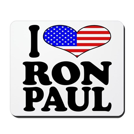 I Love Ron Paul Mousepad