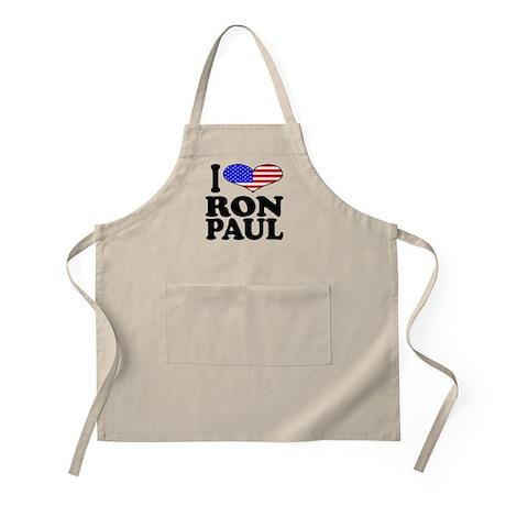 I Love Ron Paul BBQ Apron