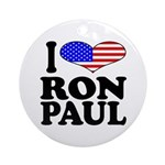I Love Ron Paul Ornament (Round)