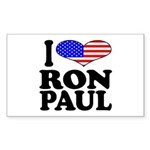 I Love Ron Paul Rectangle Sticker