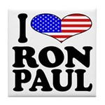 I Love Ron Paul Tile Coaster