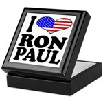 I Love Ron Paul Keepsake Box