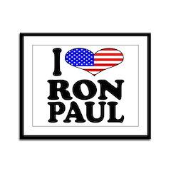 I Love Ron Paul Framed Panel Print