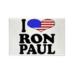 I Love Ron Paul Rectangle Magnet