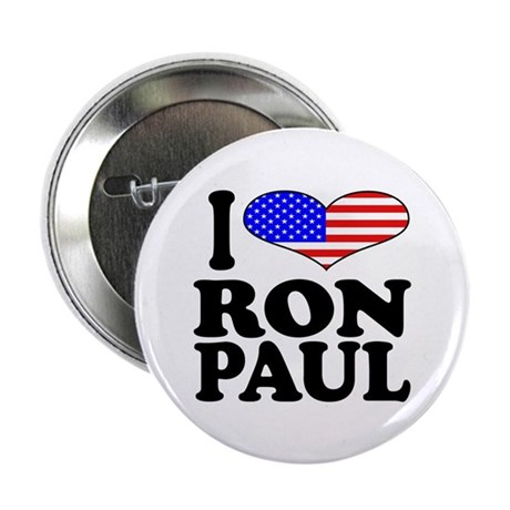 """I Love Ron Paul 2.25"""" Button (10 pack)"""