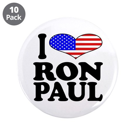 "I Love Ron Paul 3.5"" Button (10 pack)"