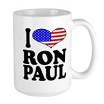 I Love Ron Paul Large Mug