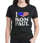 I Love Ron Paul Women's Dark T-Shirt