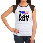 I Love Ron Paul Women's Cap Sleeve T-Shirt