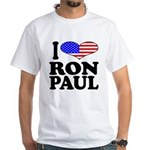 I Love Ron Paul White T-Shirt