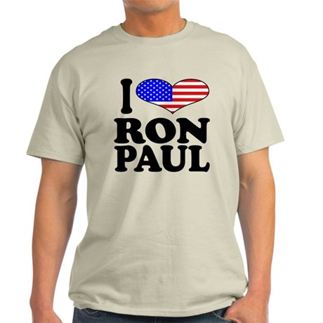 I Love Ron Paul Light T-Shirt