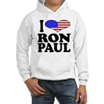 I Love Ron Paul Hooded Sweatshirt