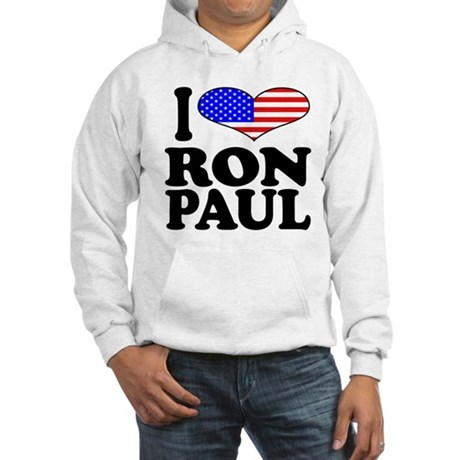 I Love Ron Paul Hooded Sweatshirt