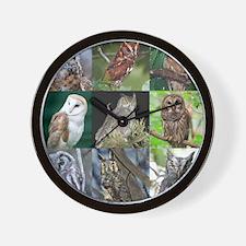 Cool Eagle owl Wall Clock