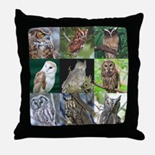 Unique Laughing owl Throw Pillow