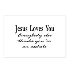 Jesus Loves You Asshole Postcards (Package of 8)