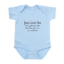 Jesus Loves You Asshole Infant Bodysuit