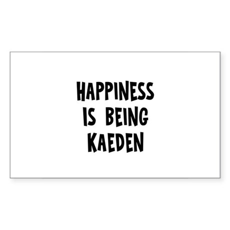 Happiness is being Kaeden Rectangle Sticker