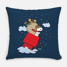 Flying Ace Santa Everyday Pillow